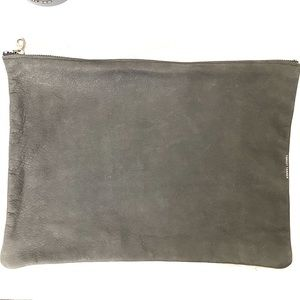 Leather Zipper Pouch/Clutch